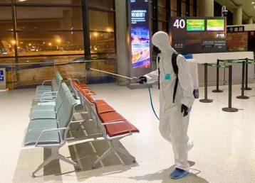 Safrax Dioxido de cloro desinfeccion de aeropuerto